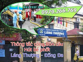 Thông tắc cống tại phường láng thượng,đống đa,hà nội giá rẻ,thông bồn cầu,toilet thoát sàn 0977935825