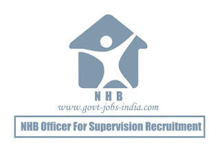 NHB Officer for Supervision Recruitment 2020