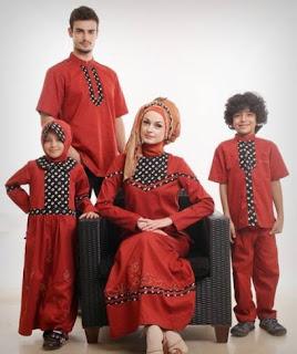 Model baju muslim sarimbit hari raya idul fitri