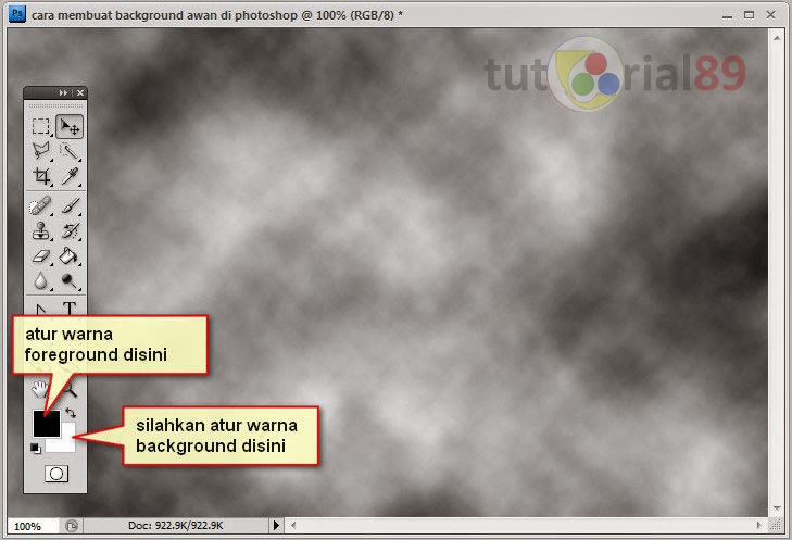 Cara mudah membuat background awan di photoshop