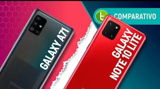 Galaxy A71 vs NOTE 10 LITE: