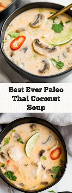 Best Ever Paleo Thai Coconut Soup (Tom Kha Gai)