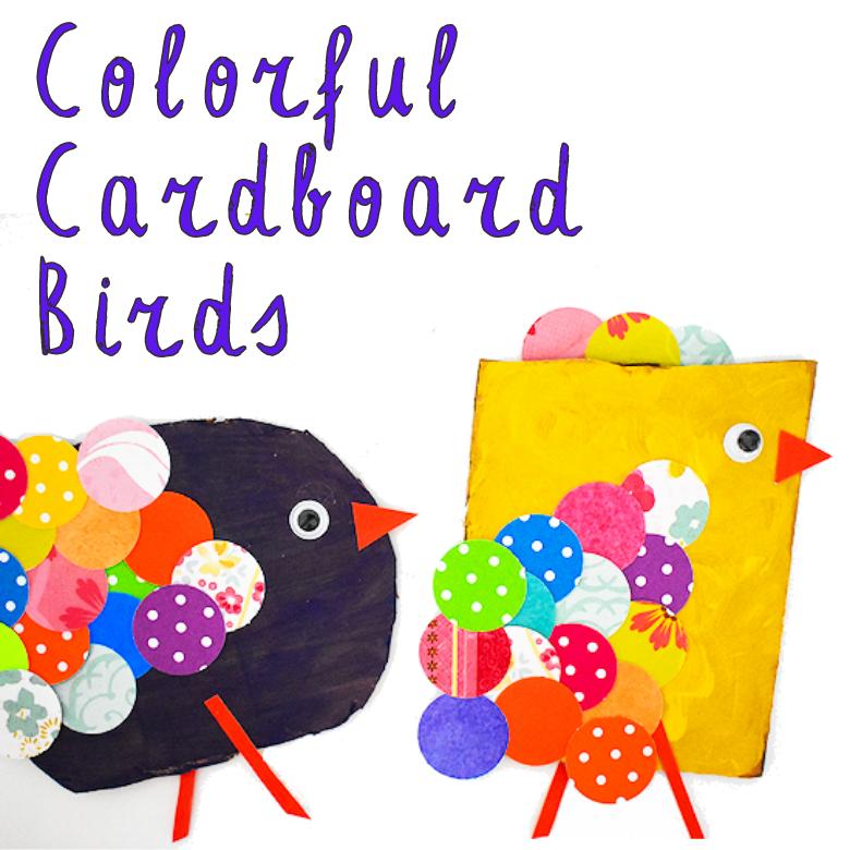 Colourful Cardboard Bird Craft for Kids