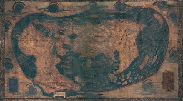 """Revelan secretos del mapa que usó Colón para """"descubrir"""" América Mapa"""