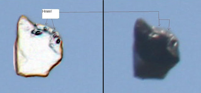 The UFO has seemed to have changed shape with a face appearing.
