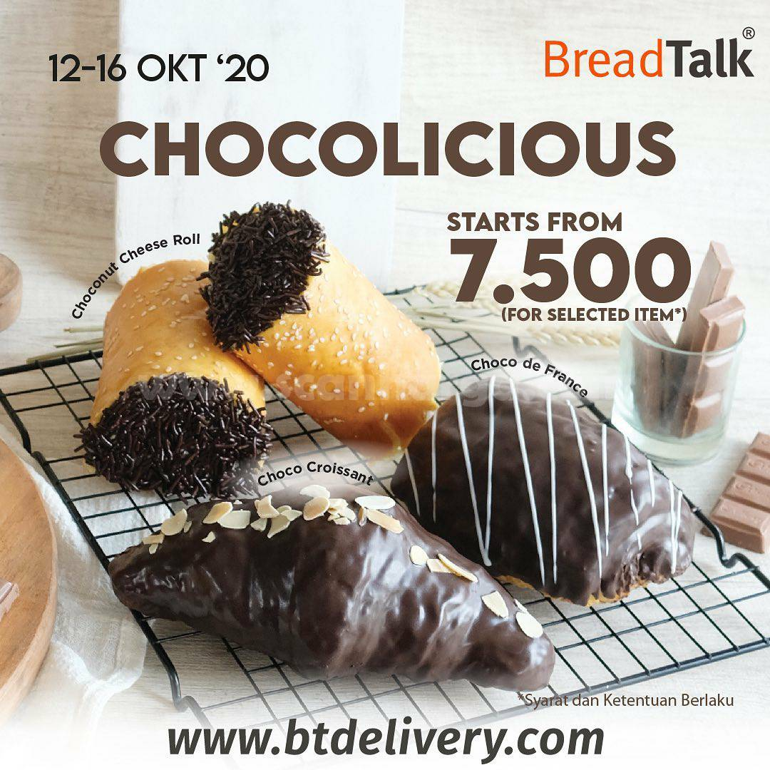 Promo BREADTALK Chocolicious All Chocolate Flavors Starts from 7.500