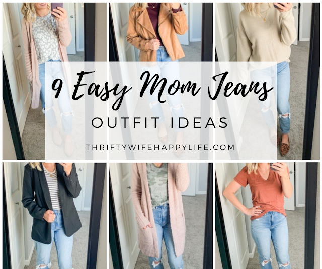 9 easy mom jean outfits #momjeans