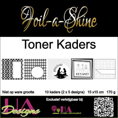 HA Designs Foil-a-Shine toner kaders en achtergrondjes