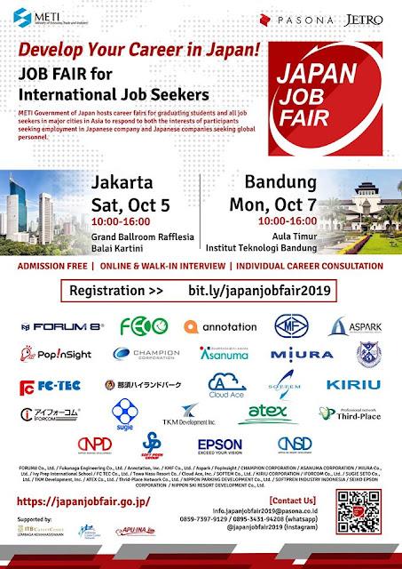Job Fair Perusahaan Jepang 2019