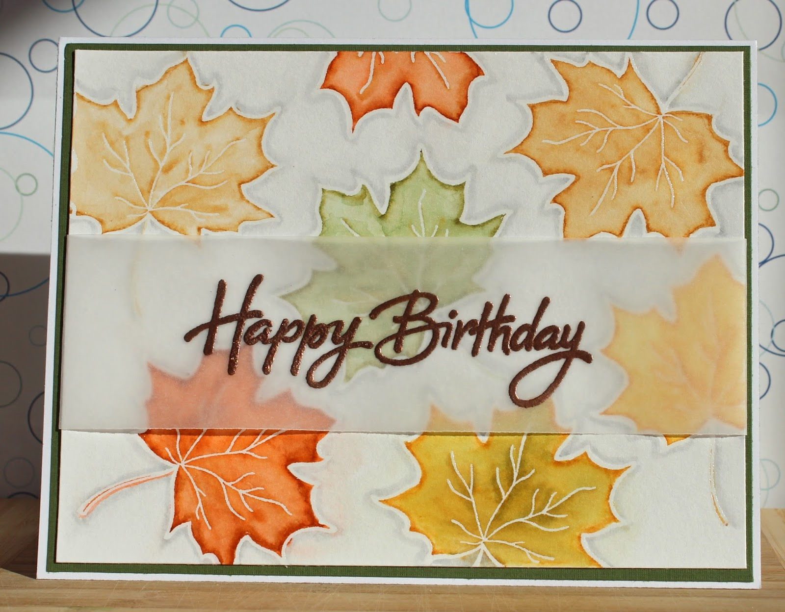 There's a Card for That: Autumn Birthday   ft. Inkadinkado ...