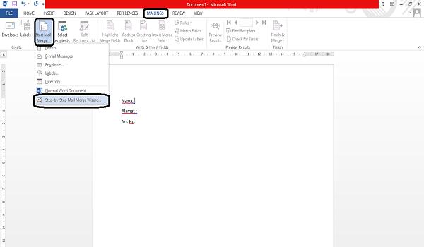 step by step mail merge