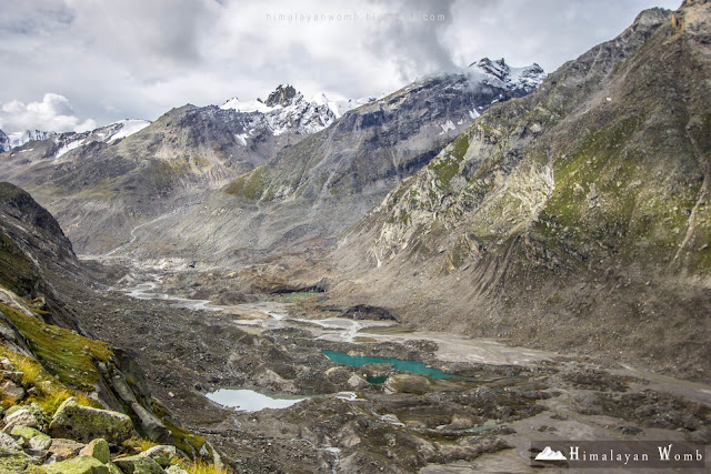 Glof, lakes, parvati glacier