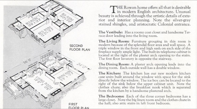 GVT Rowan 1936 catalog image of floor plan ; previously marketed as GVT Diana