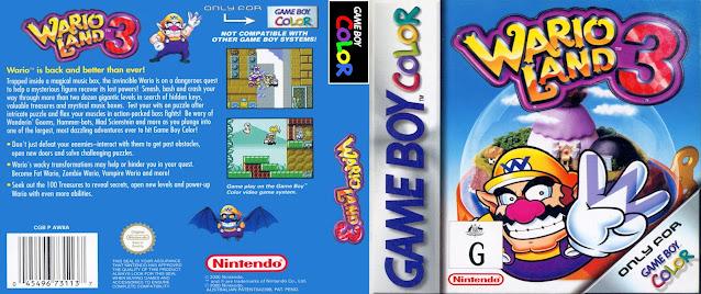 game boy color wario land 3 cover