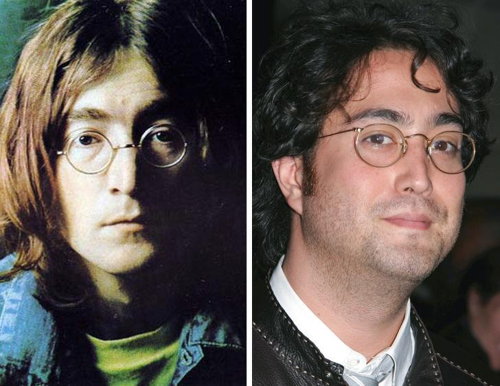 John Lennon e seu filho Sean