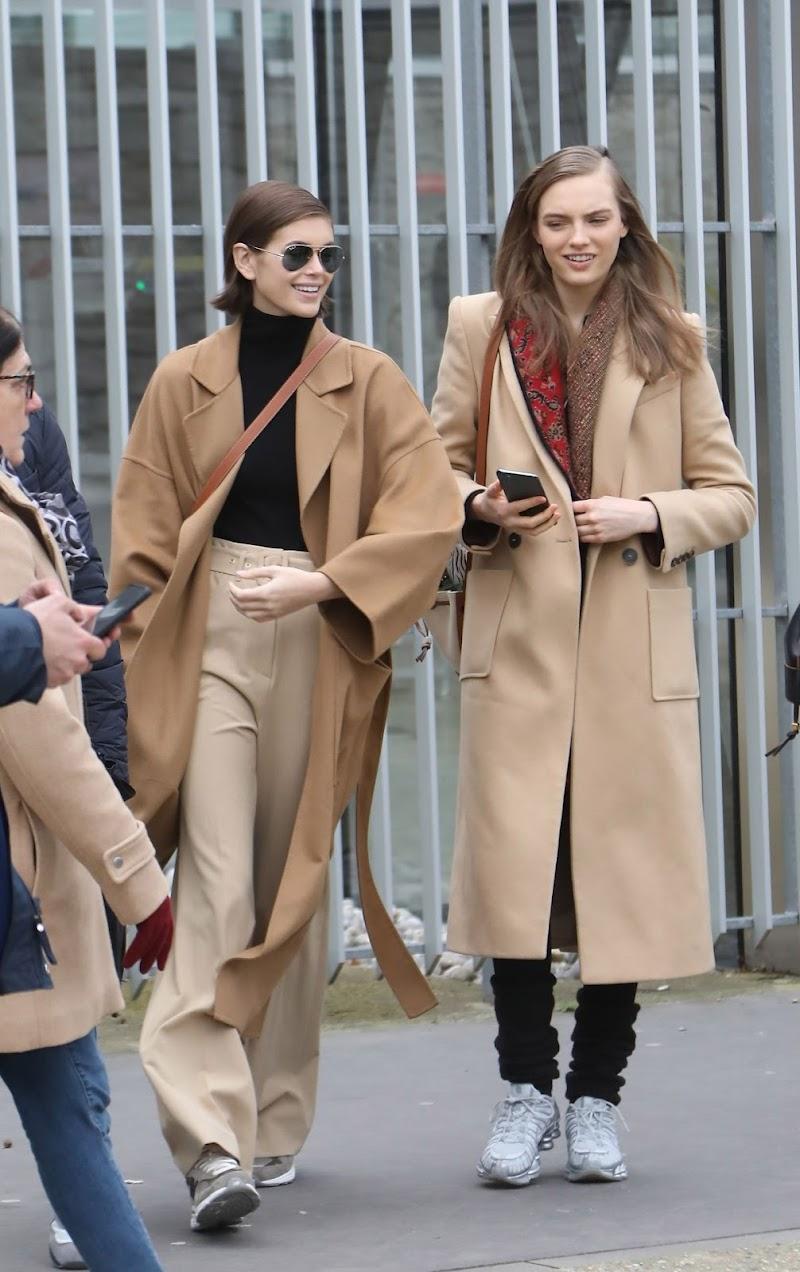 Kaia Jordan Gerber Clicked Outside in Paris 28 Feb-2020
