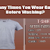 How Many Times You Wear Garments Before Washing?  #infographic