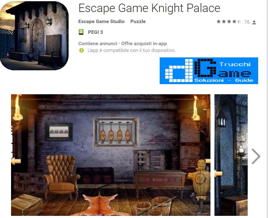 Soluzioni Escape Game Knight Palace di tutti i livelli | Walkthrough guide