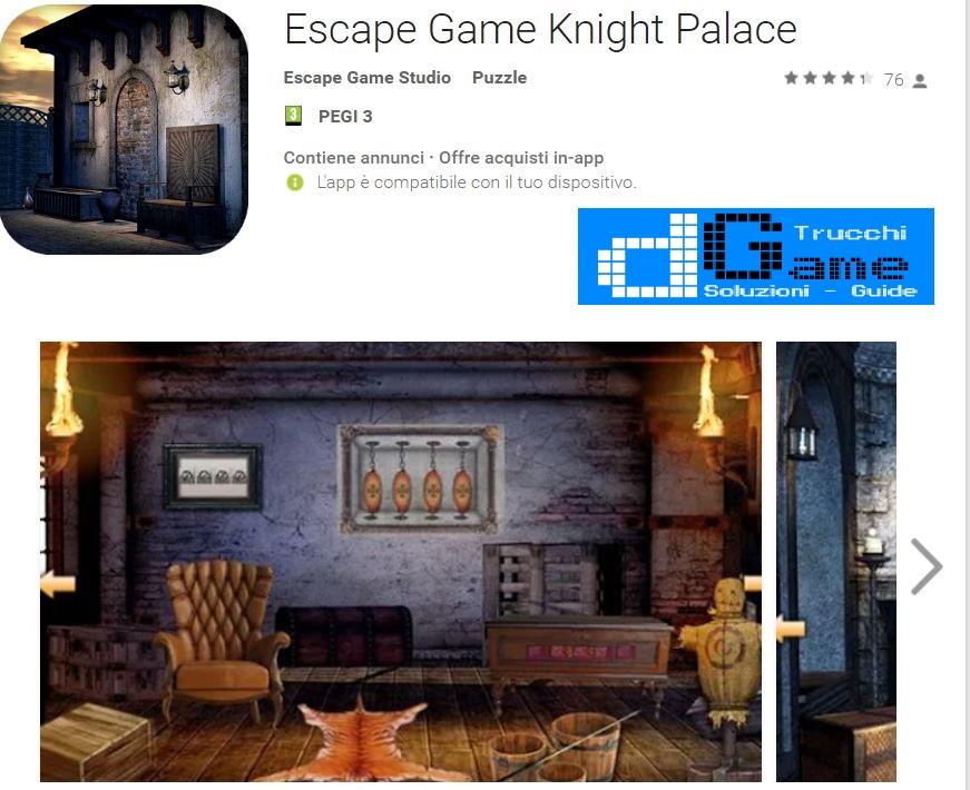 Soluzioni Escape Game Knight Palace di tutti i livelli | Walkthrough guide
