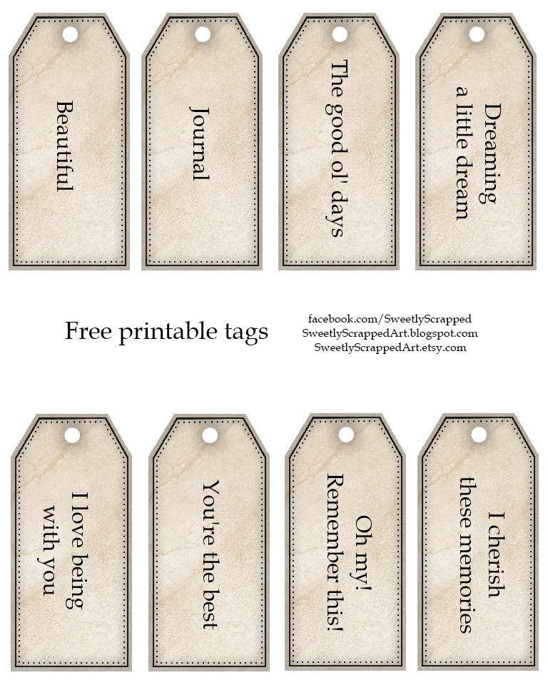 Free Printable Wedding Gift Tags: Sweetly Scrapped: Free Printable Tags