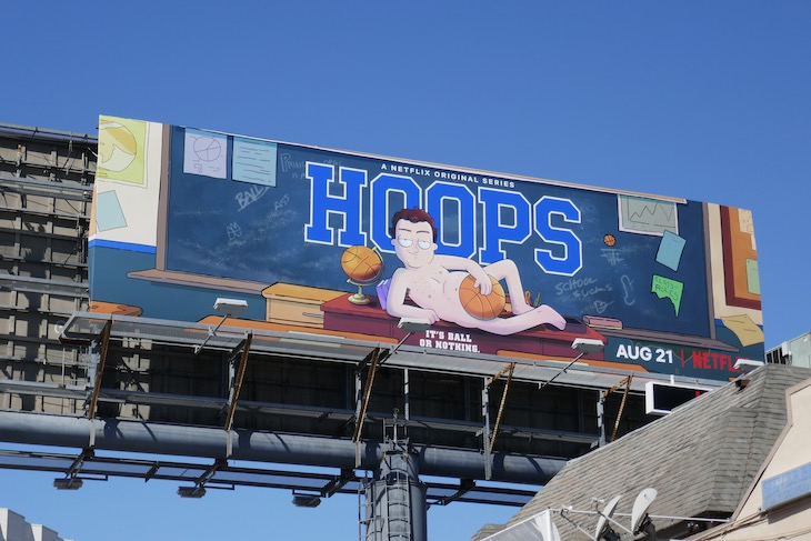 Hoops series launch billboard