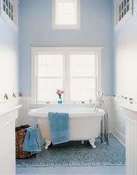 Decoración baño azul cielo