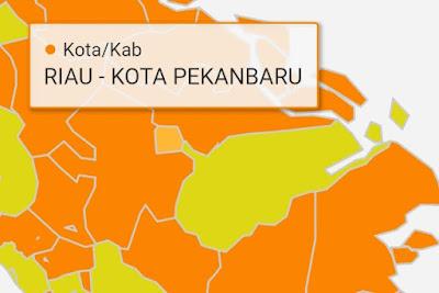 Peta Risiko Pekanbaru di Zona Oranye, Jangan Lengah Tetap Patuhi Prokes COVID-19