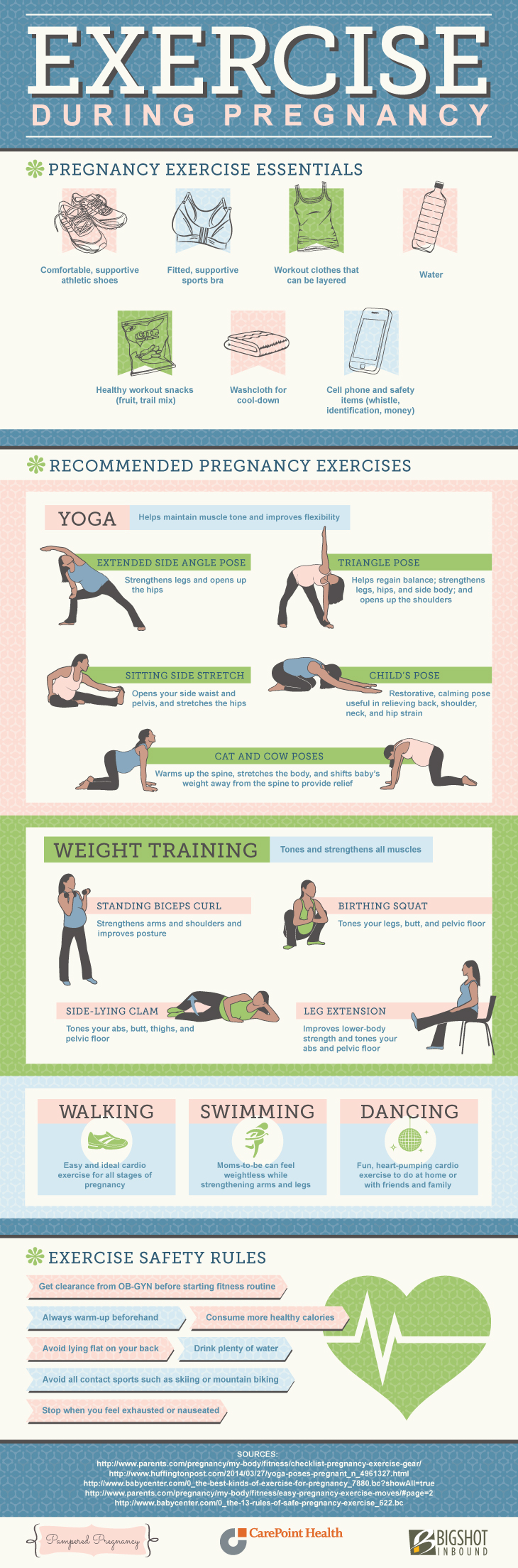 Exercise during pregnancy #infographic
