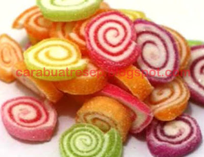 Foto Resep Permen Agar Agar Gulung Warna Warni (Candy Roll) Sederhana Spesial Asli Enak