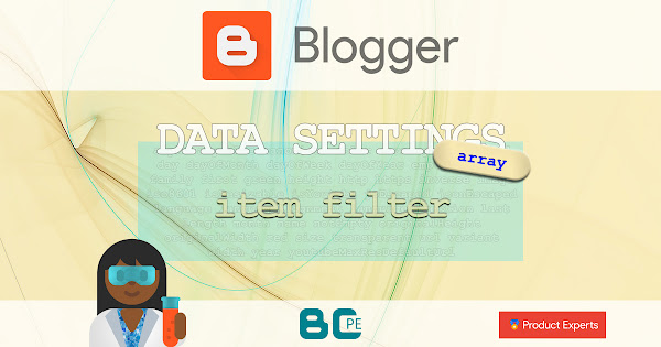 Blogger - Post option filters