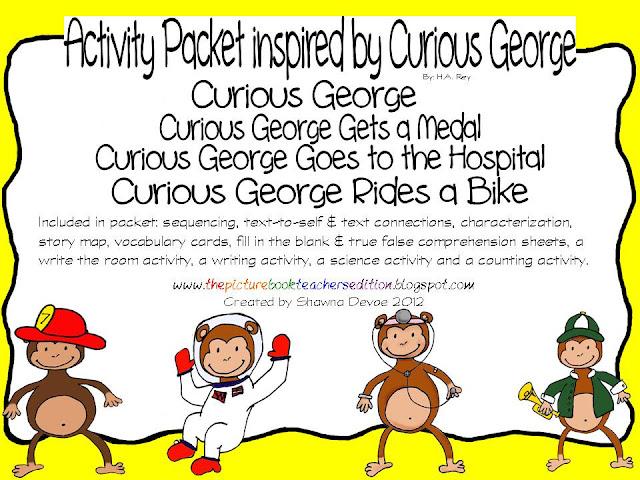 curious george goes to school printable freebies