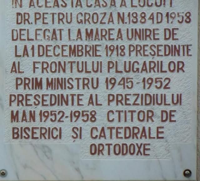 Casa Memorială Dr. Petru Groza
