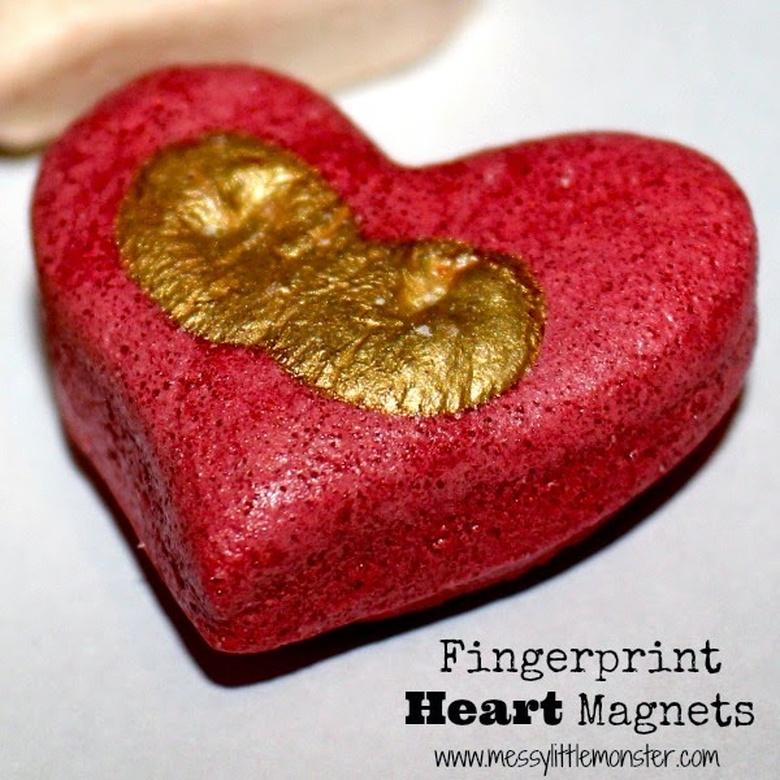 heart fingerprint magnet craft
