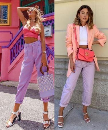 12 Looks com color block, Aggie Pink Lemonade, Alexandra Pereira