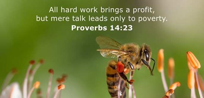 All hard work brings a profit, but mere talk leads only to poverty.