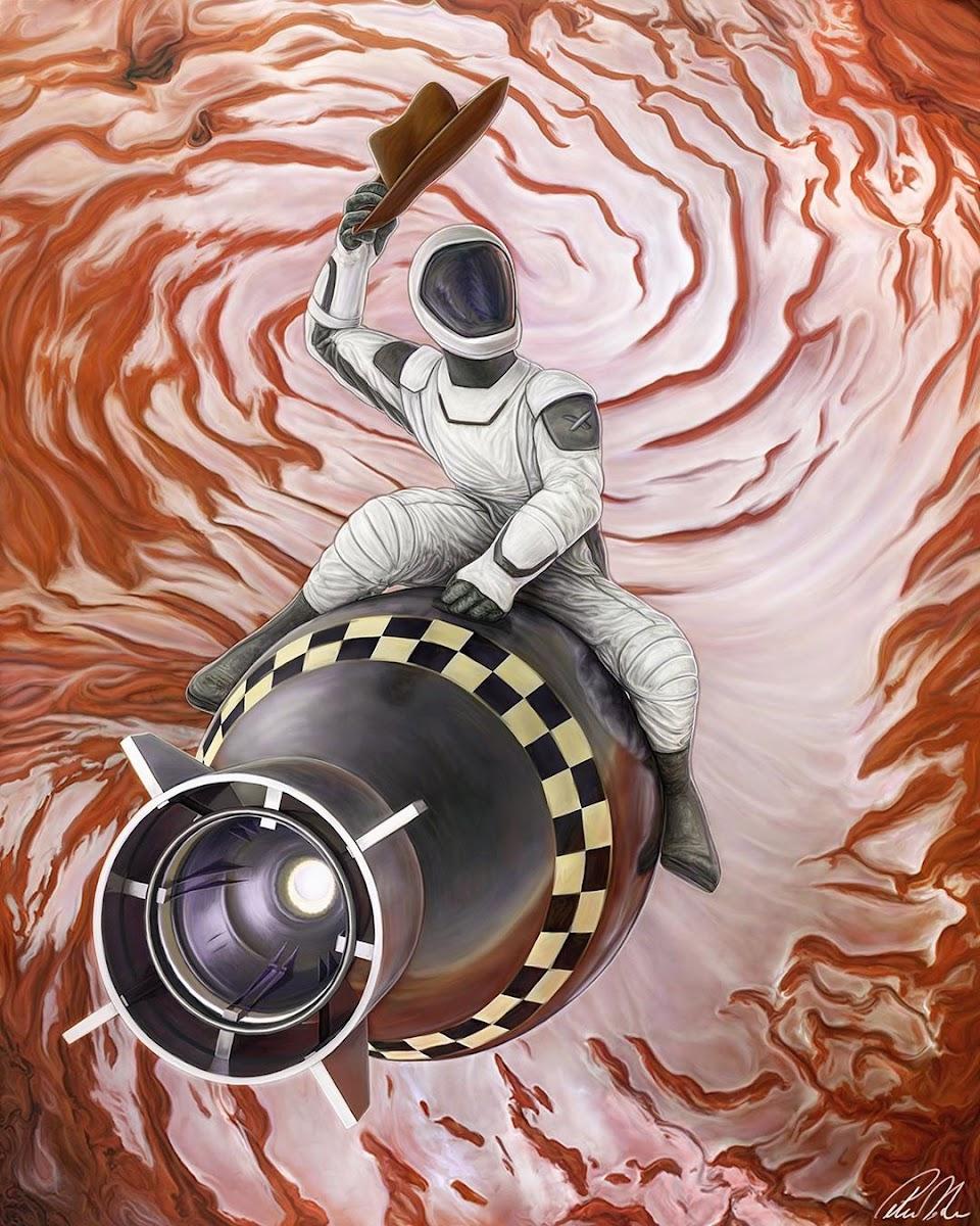 Elon Musk Starman Nuke Mars by Peter DeLuce