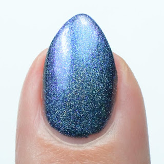 blue to purple multichrome holo nail polish