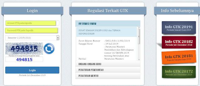 cara login di Info GTK