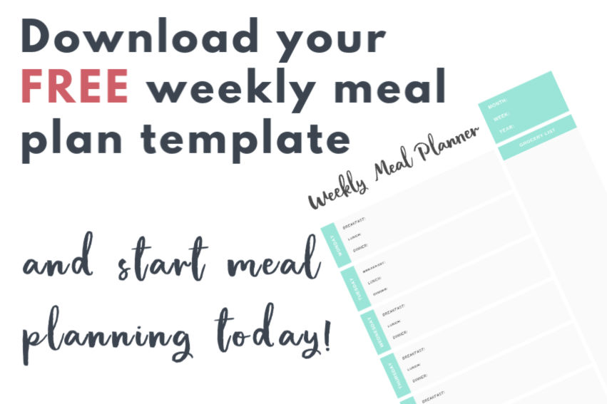 Weekly Meal Plan to download