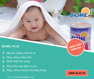 Sữa công thức sinh học Biomil gần giống sữa mẹ giúp bé hấp thu tốt