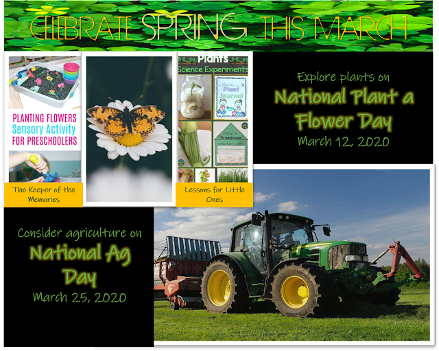 Plant a flower or engage in agricultural experiments in honor of National Plant a Flower Day and National Ag Day.