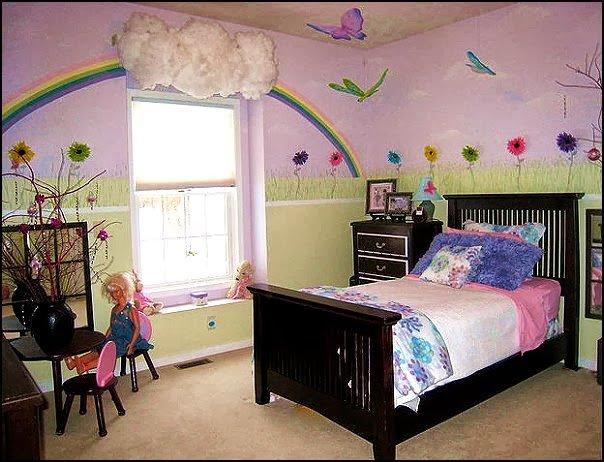 rainbow garden girls bedroom rainbow wall decoration cloud window