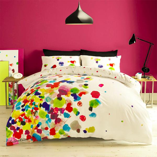 Zandra rodhes, bedding, bedline, sheets, bedline desingers, bedline design, bedding desing, colourful sheets, designers sheets,