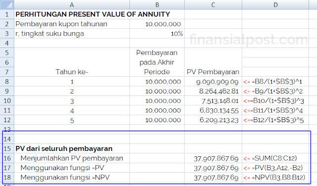 present value dari anuitas