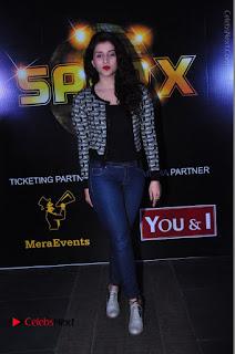 Actress Mannara Chopra Stills in Jeans at Sparx 2017 Curtain Raiser Event  0195.JPG