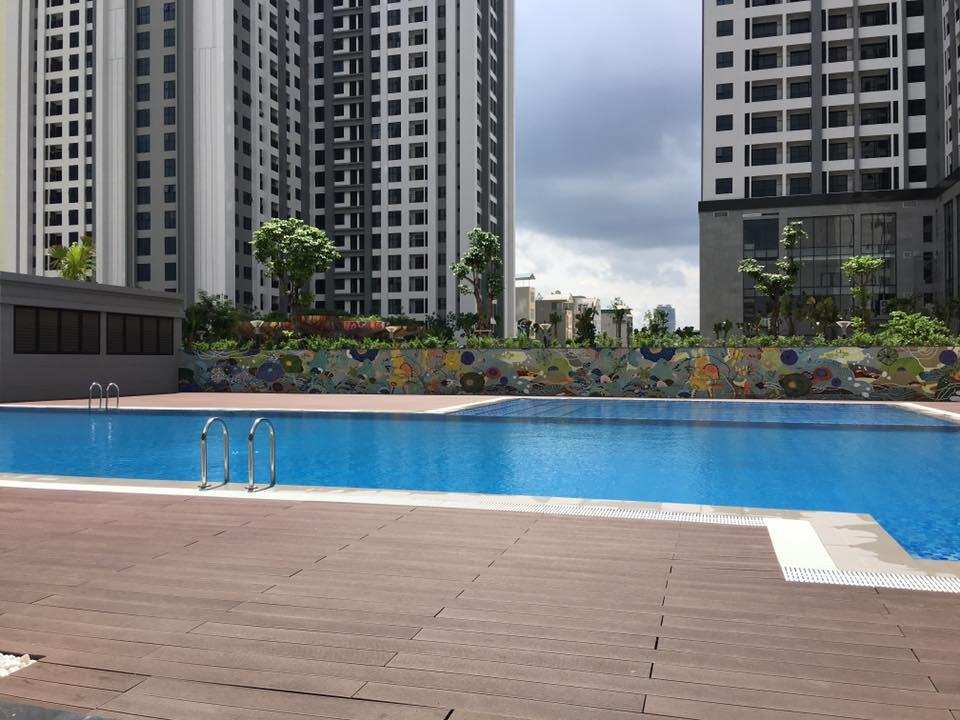 Bể bơi khu Ruby dự án Goldmark City