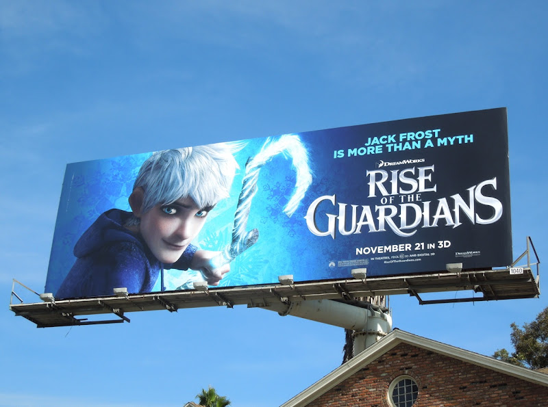 Jack Frost Rise of Guardians billboard