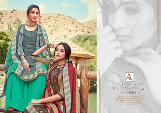 Alok Suits Aaisha Jacquard Pashmina Collection Winter Suits