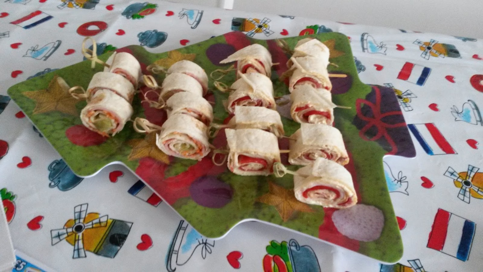 kleine wraps fingerfood