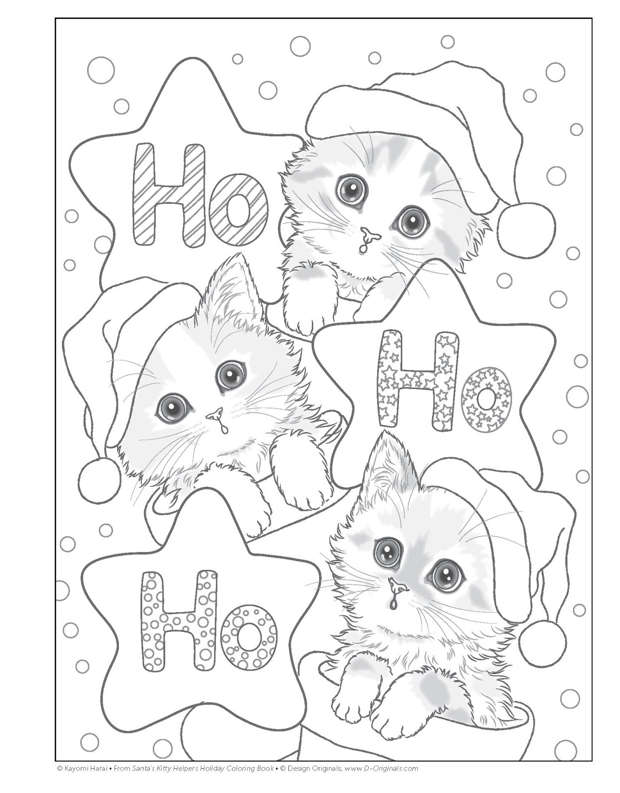 Kayomi Presents Dozens Of Festive Yuletide Kitties Ready To Color With Markers Colored Pencils Watercolors Or Gel Pens Readers Will Recognize These